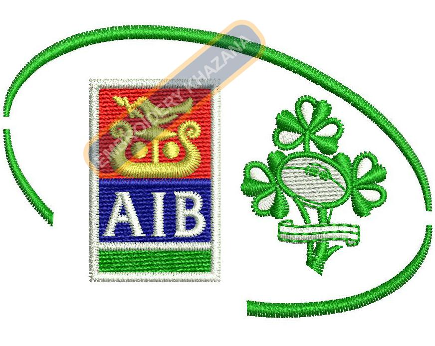 AIB logo embroidery design