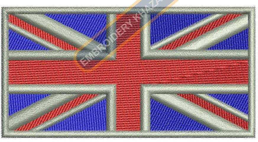 British flag embroidery design
