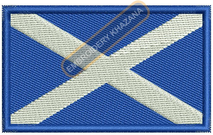 Scotland Scottish flag embroidery design