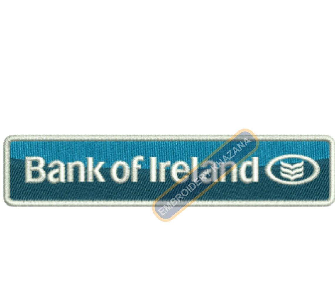 Bank of Ireland embroidery design