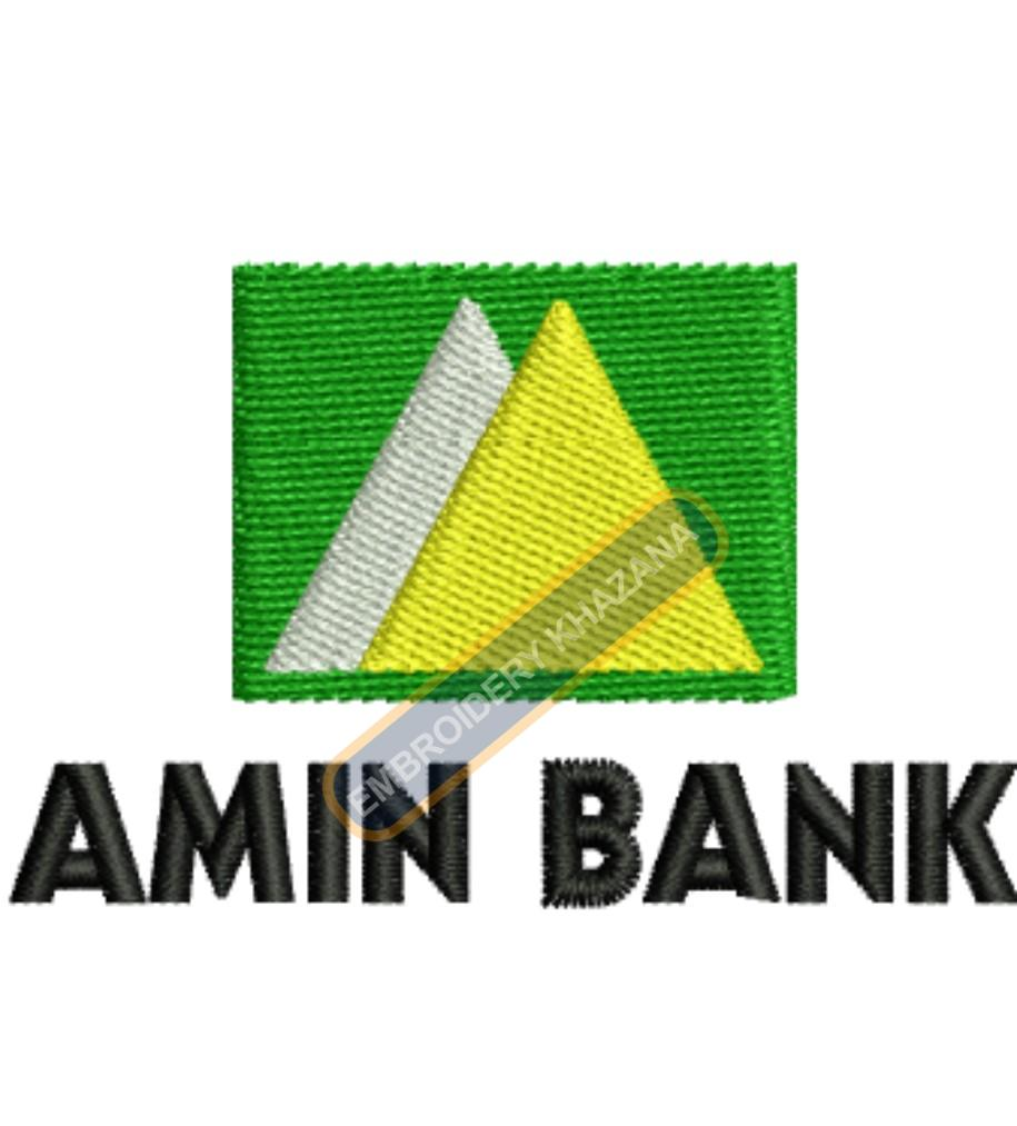 Amin Bank embroidery design