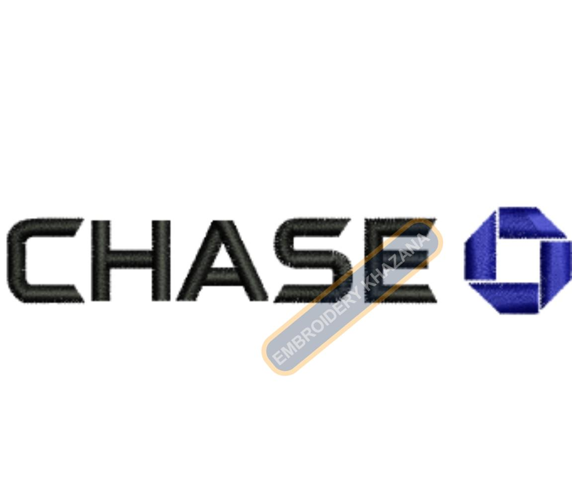 Chase Bank embroidery design