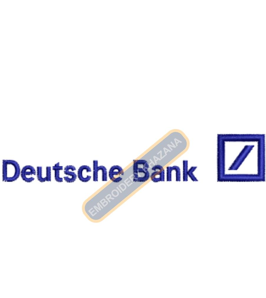Deutsche Bank embroidery design