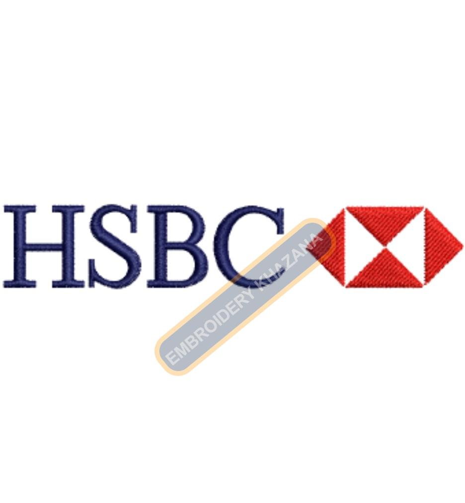 HSBC Bank embroidery design