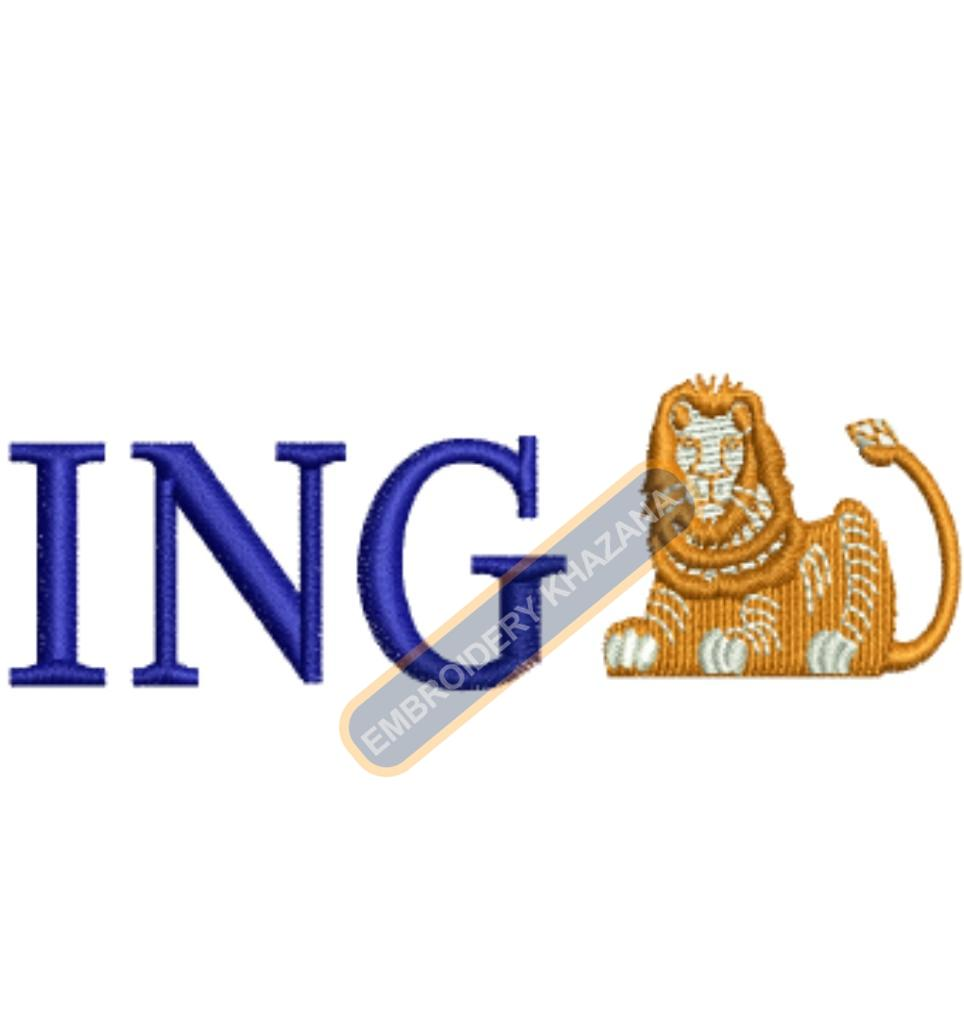 ING Bank embroidery design