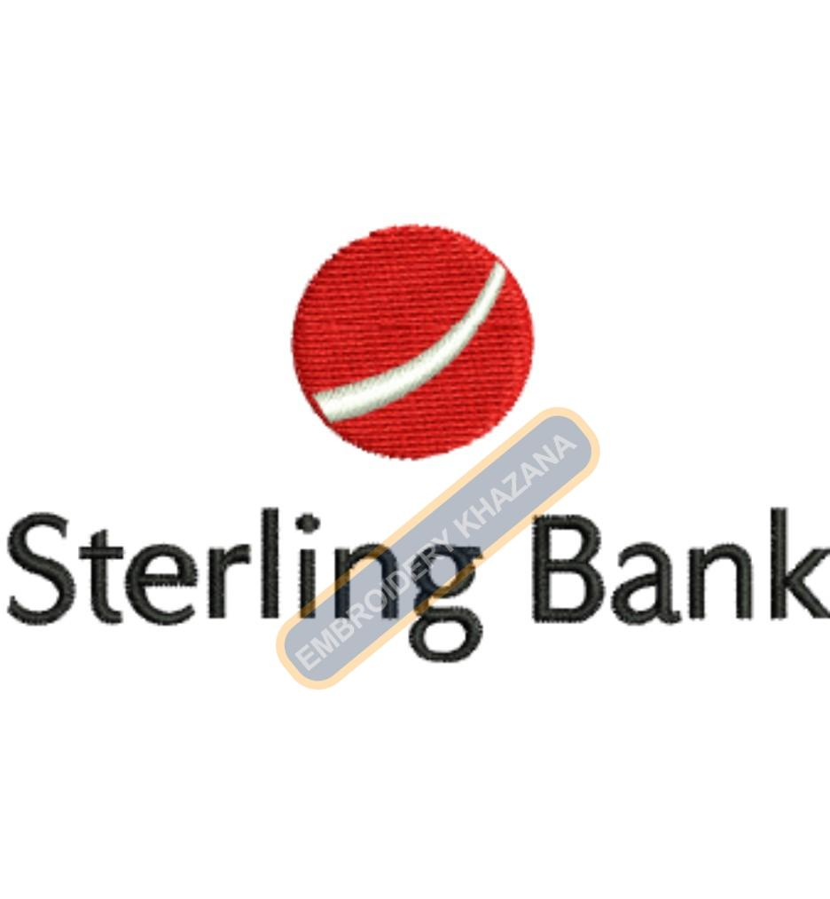 Sterling Bank embroidery design