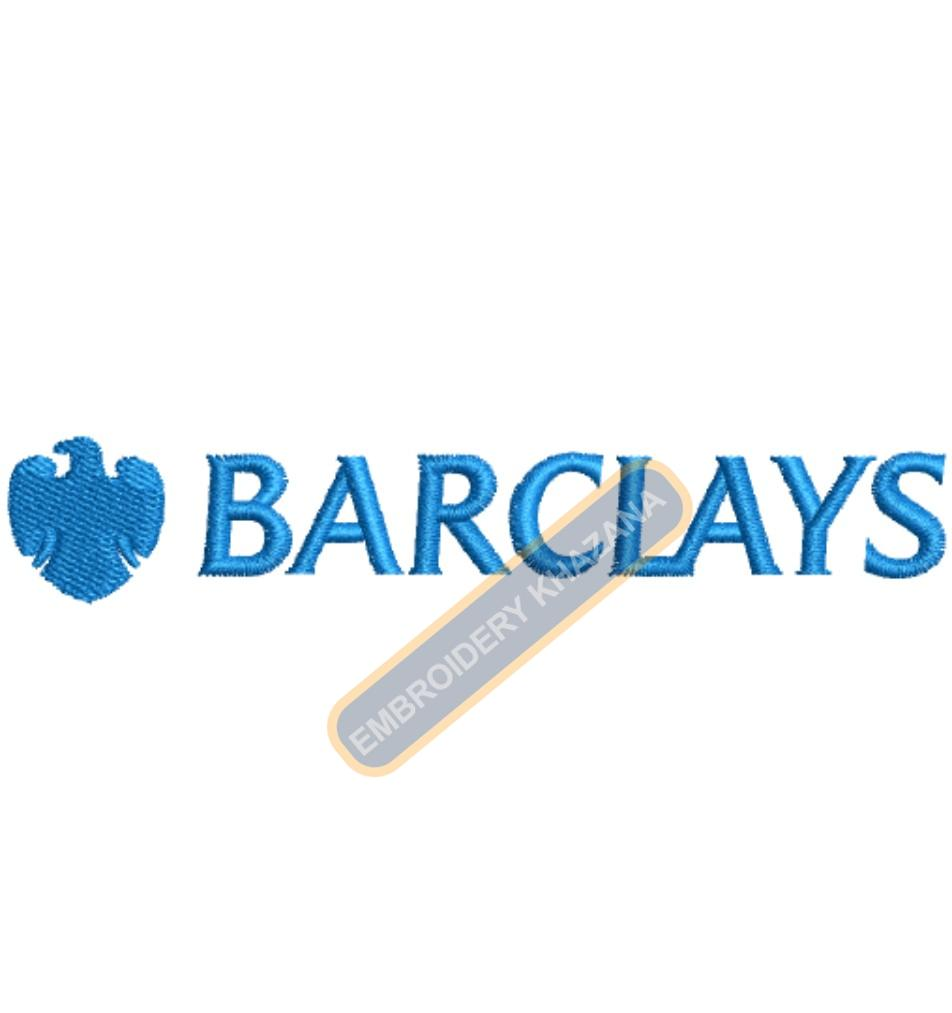BARCLAYS Bank  embroidery design