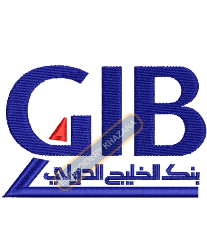 GIB Bank embroidery design