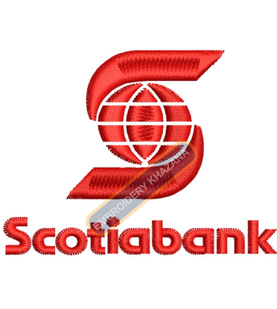 Scotia Bank embroidery design