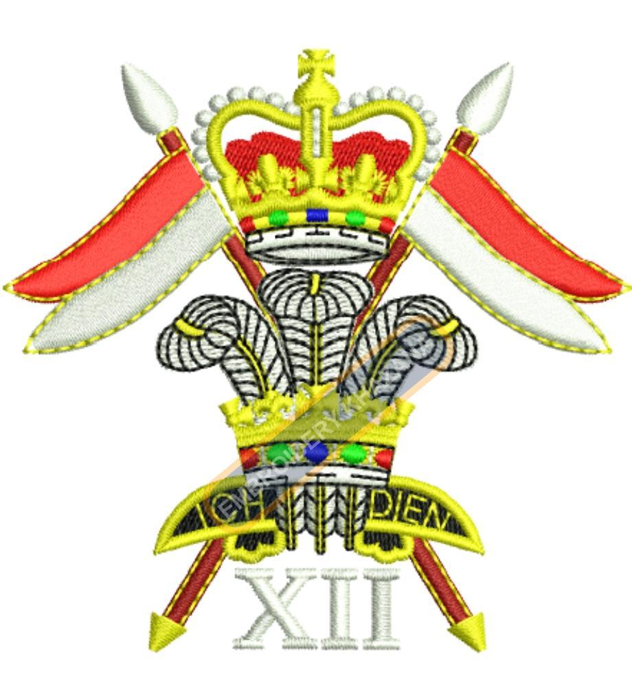 ICH DEIN badge embroidery design