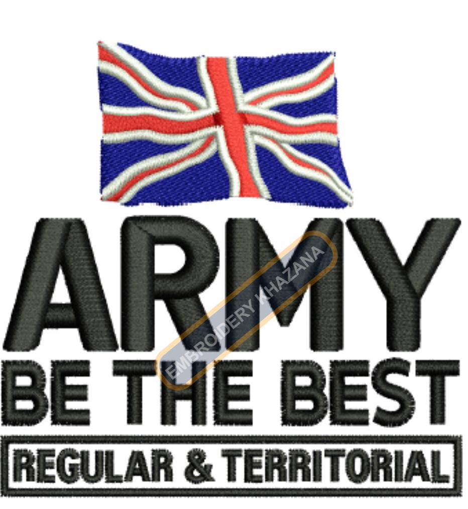 army be the best embroidery design