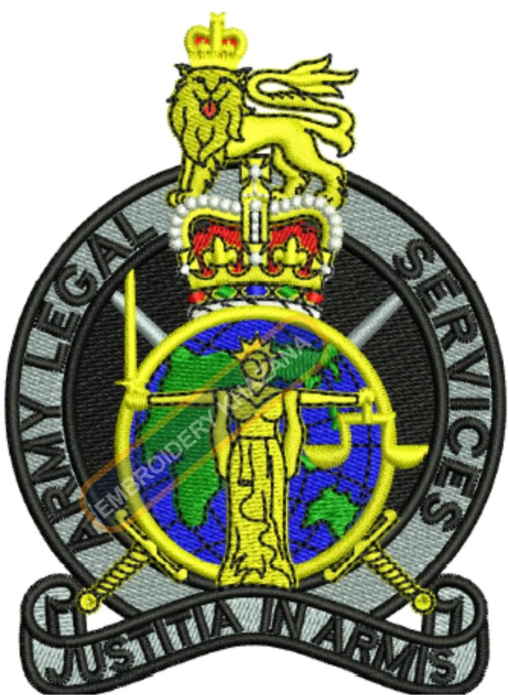 Army Legal Service badge embroidery design