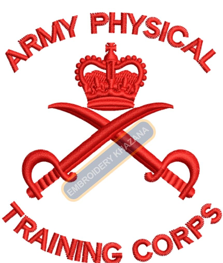army physical training corps embroidery design