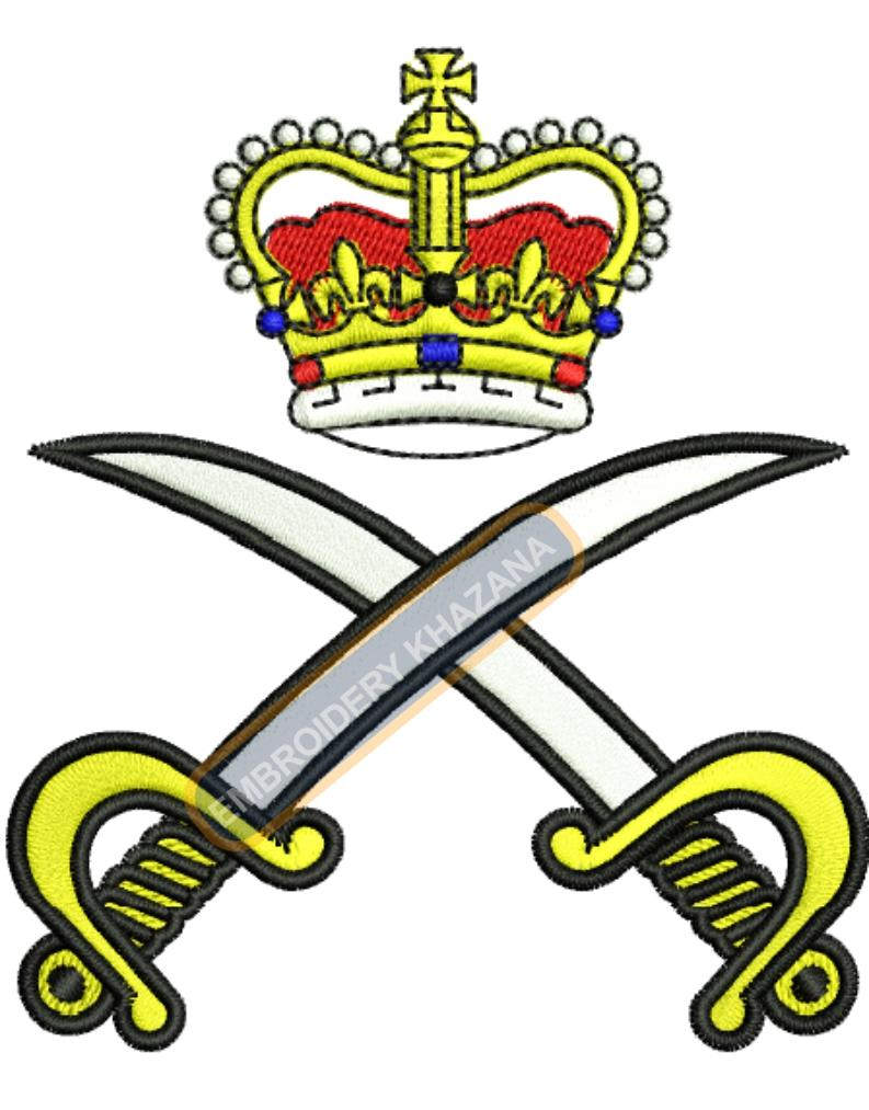 army physical corps badge embroidery design