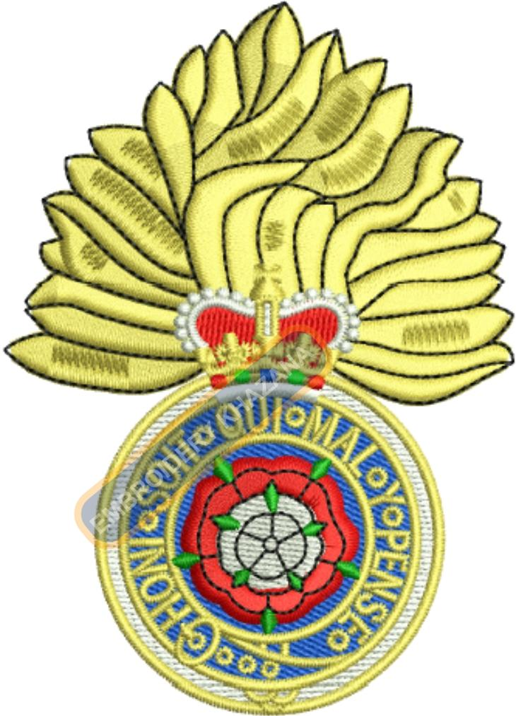 the royal fusiliers badge embroidery design