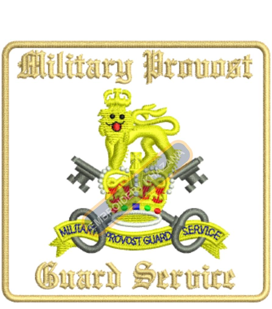 military provost guard service badge