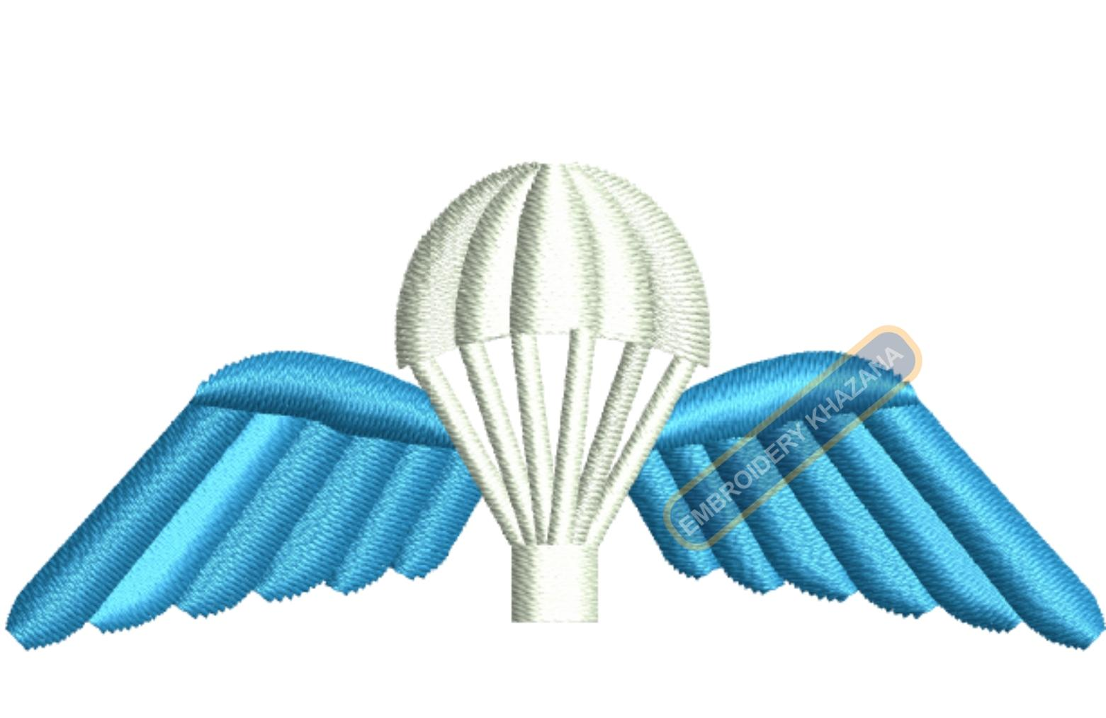 british airborne wings embroidery design