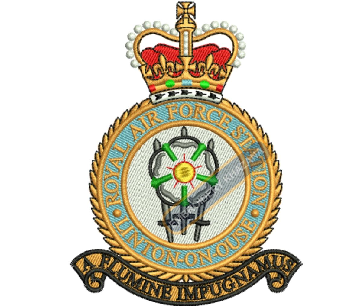 raf linton-on-ouse badge embroidery design