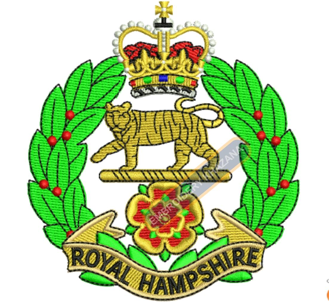 royal hampshire crest embroidery design