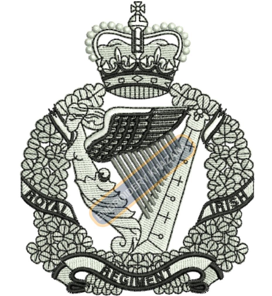 royal irish regiment crest embroidery design