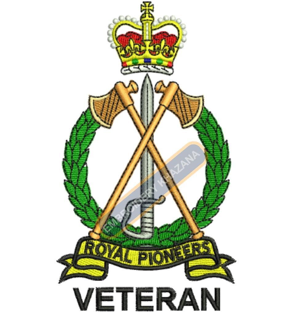 royal poineer veteran badge embroidery design