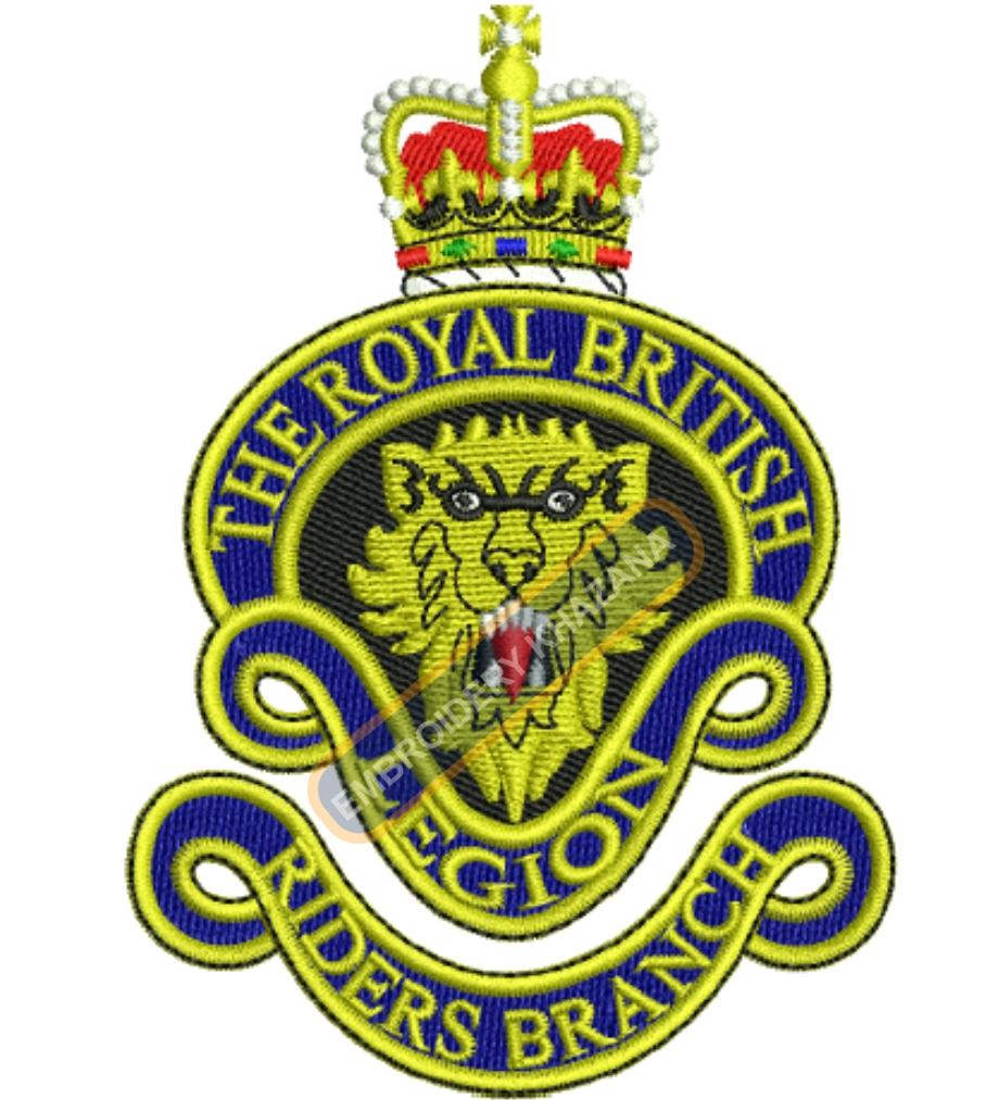 the royal british legion crest embroidery design