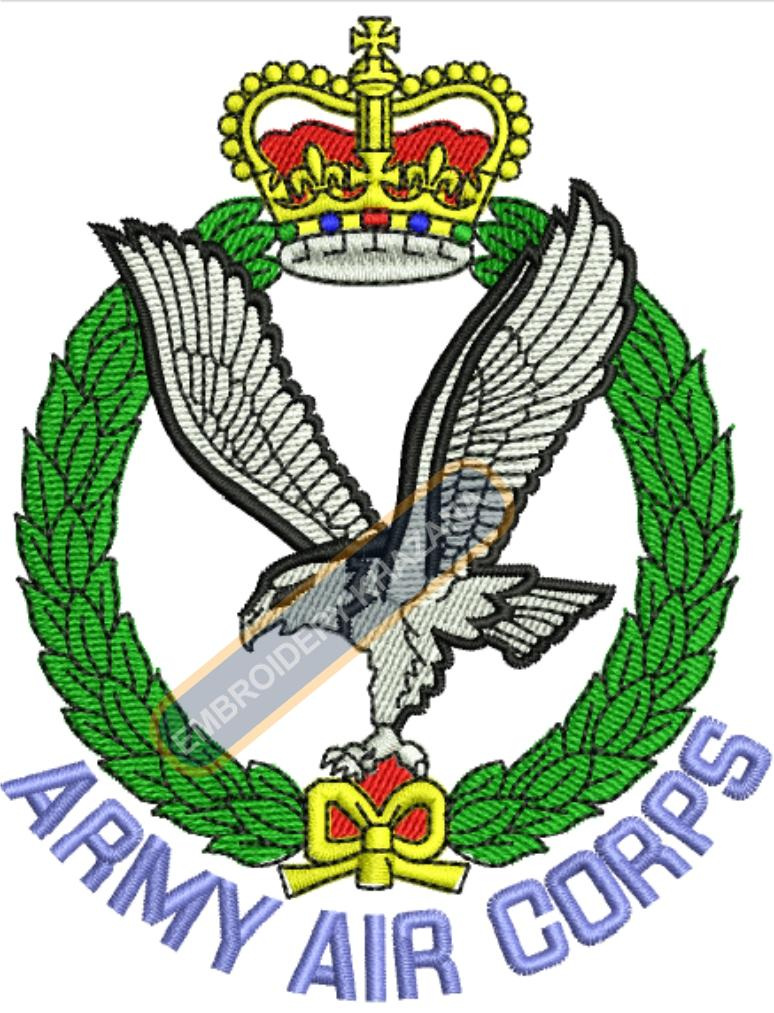 The Army Air Corps badge embroidery design