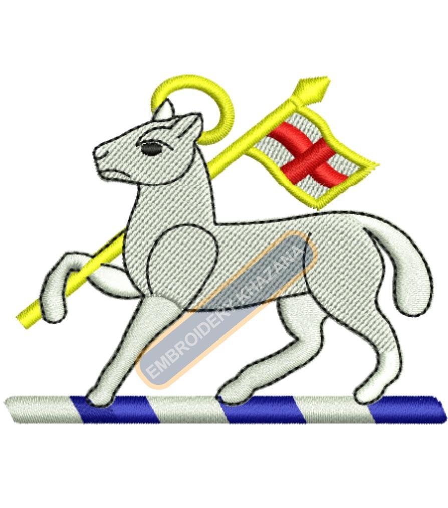 Queen Royal West Surrey badge embroidery design