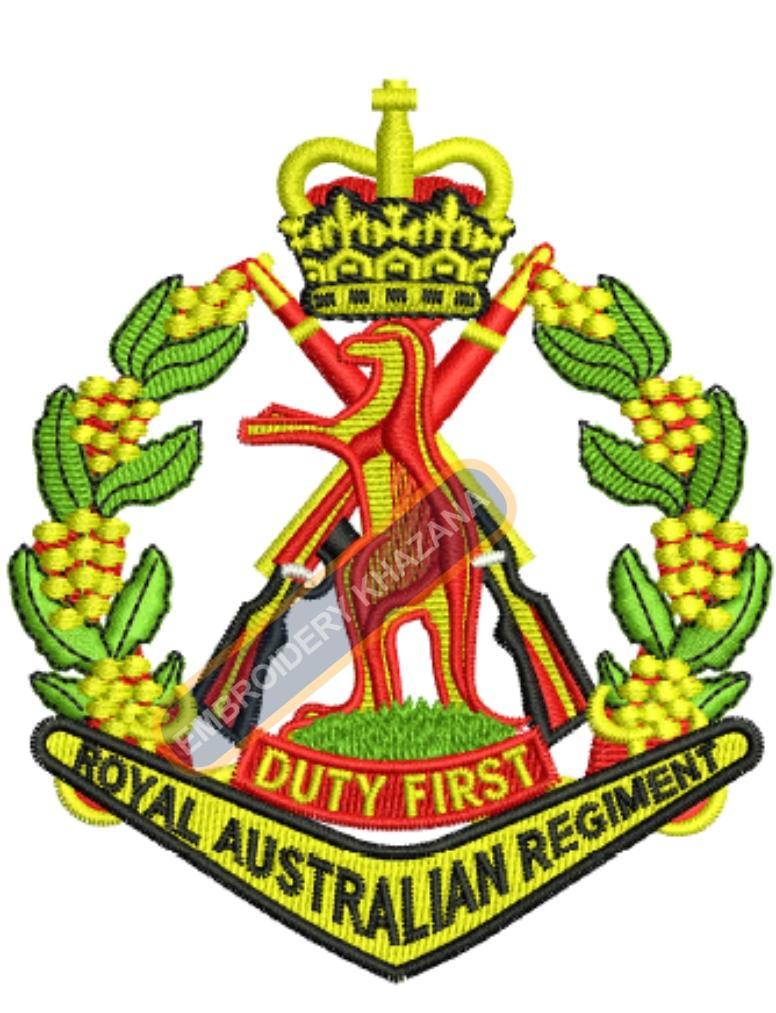 royal australian regiment badge embroidery design