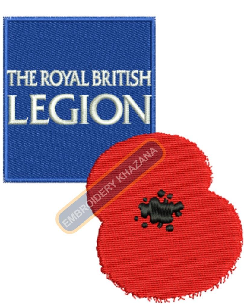 the royal  british legion embroidery design