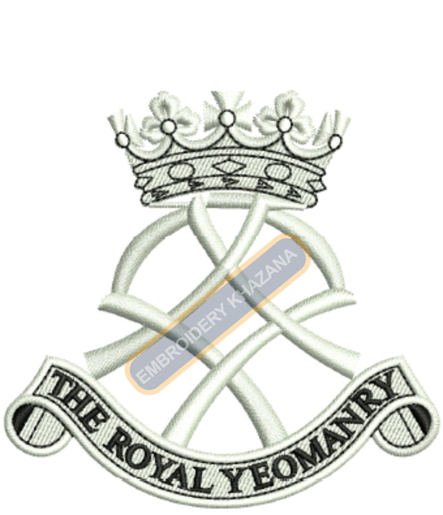 The Royal Yeomanry badge embroidery design
