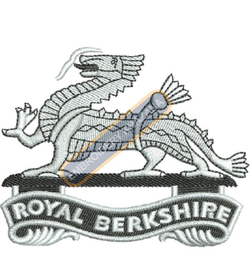 royal berkshire badge embroidery design