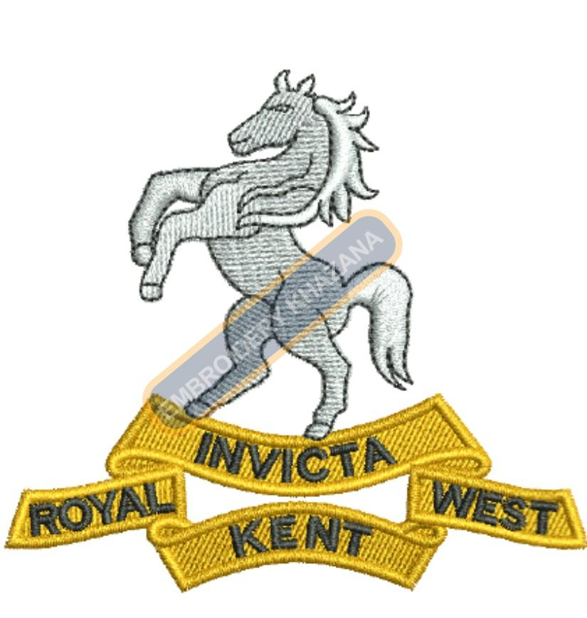 royal invitica badge embroidery design