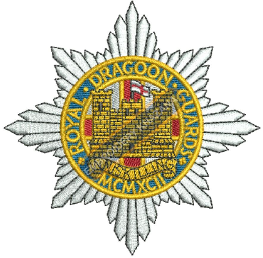 the royal dragoon guards badge embroidery design