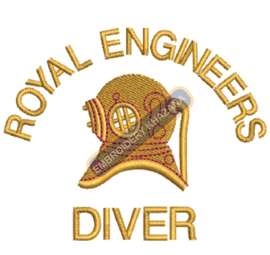 royal engineers diver badge embroidery design