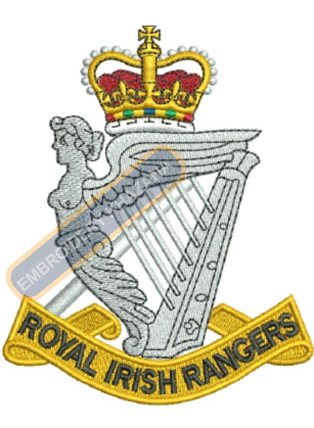royal irish ranger badge embroidery design