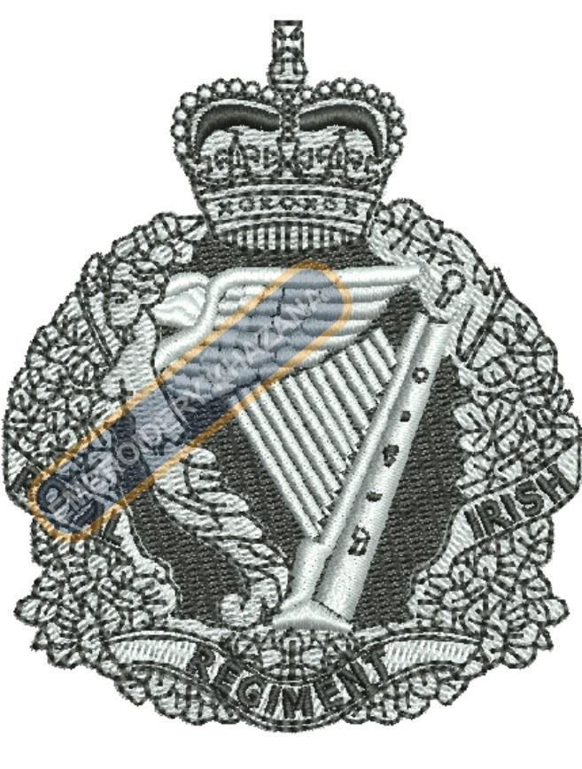 royal irish regiment badge embroidery design