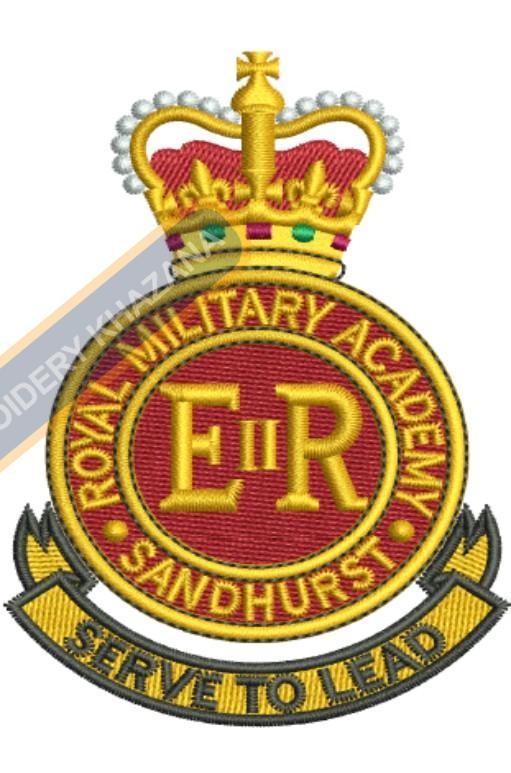rma sandhurst crest embroidery design