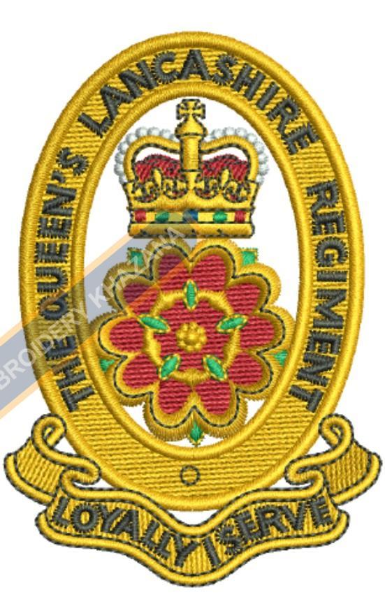 queen lancashire regiment badge