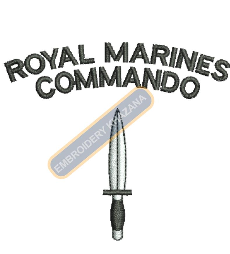 royal marines commando badge embroidery design