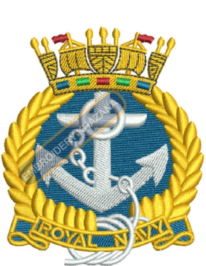 royal naval association crest embroidery design