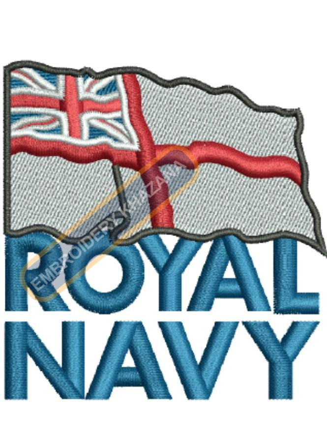 the Royal Navy logo embroidery design