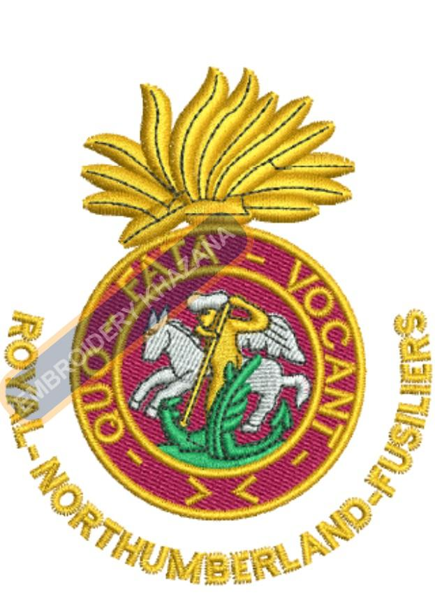 royal northumberland badge embroidery design