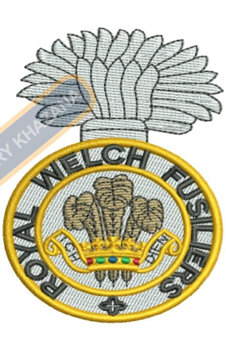 royal welsh fusilier badge embroidery design