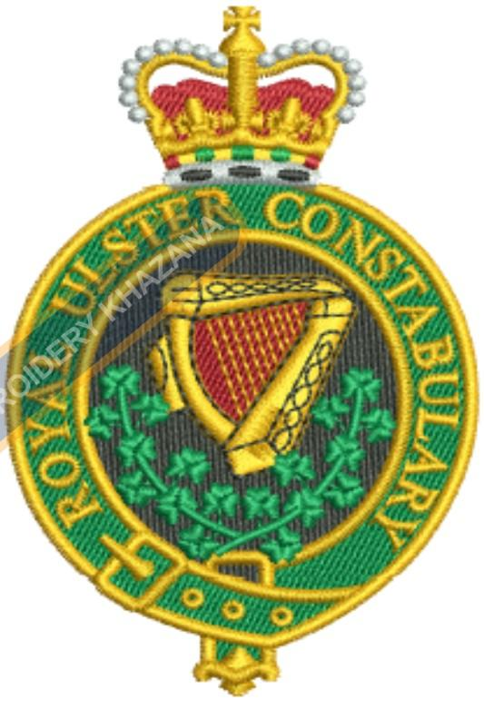 royal ulster constabulary crest embroidery design
