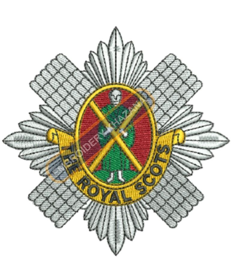 the royal scots badge embroidery design