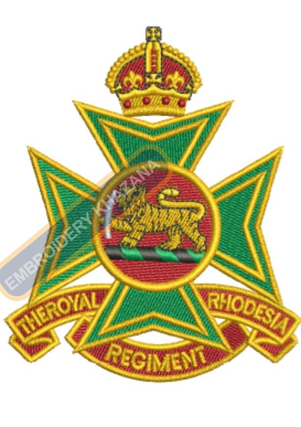 The Royal rahodeshia regiment badge