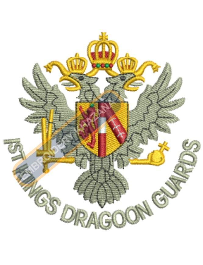 1st king dragoon guards badge embroidery design