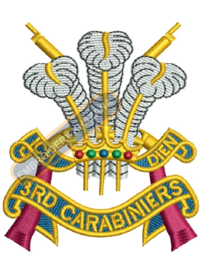 3rd carabineries badge embroidery design