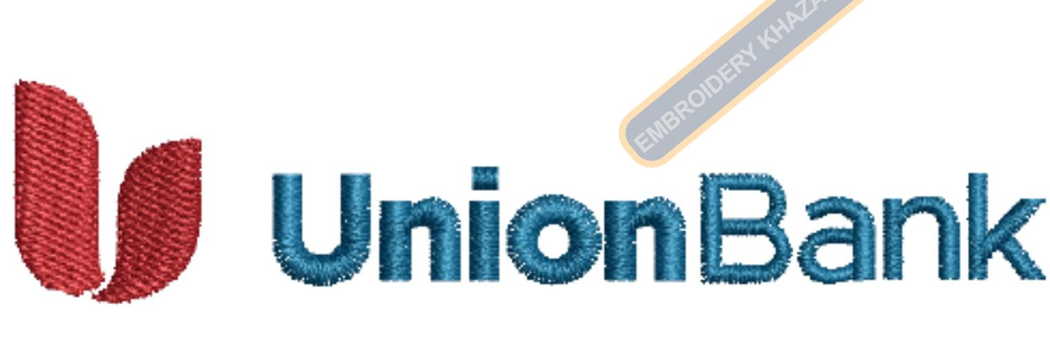 Union Bank embroidery design